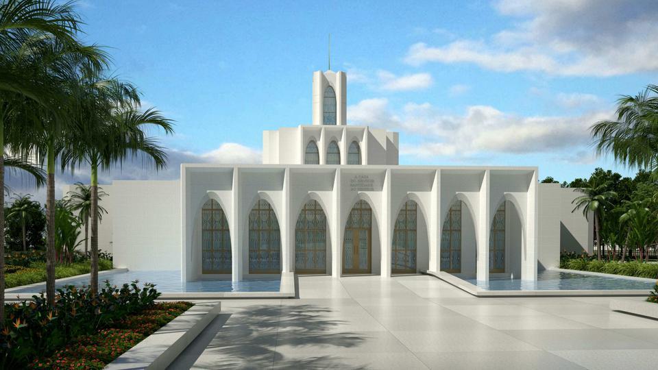 Representación artística del Templo de Brasilia, Brasil.