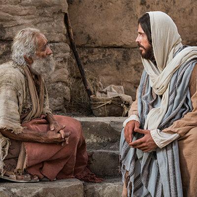 Cristo ministrando a un hombre en el estanque de Betesda